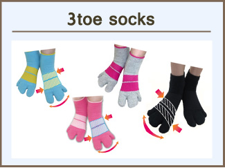 3-toe Socks